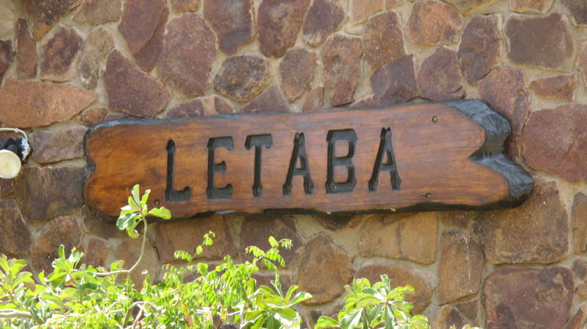 Letaba camp sign at the gate