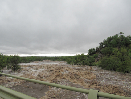 Maswidzudzu in flood during the 2012 floods in Kruger National Park caused by cyclone Dando