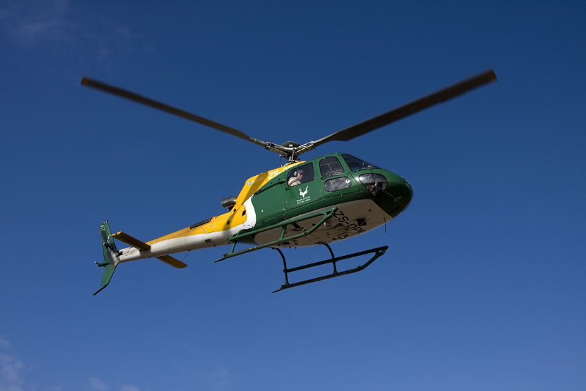 SANParks helicopter on its way to count rare antelope