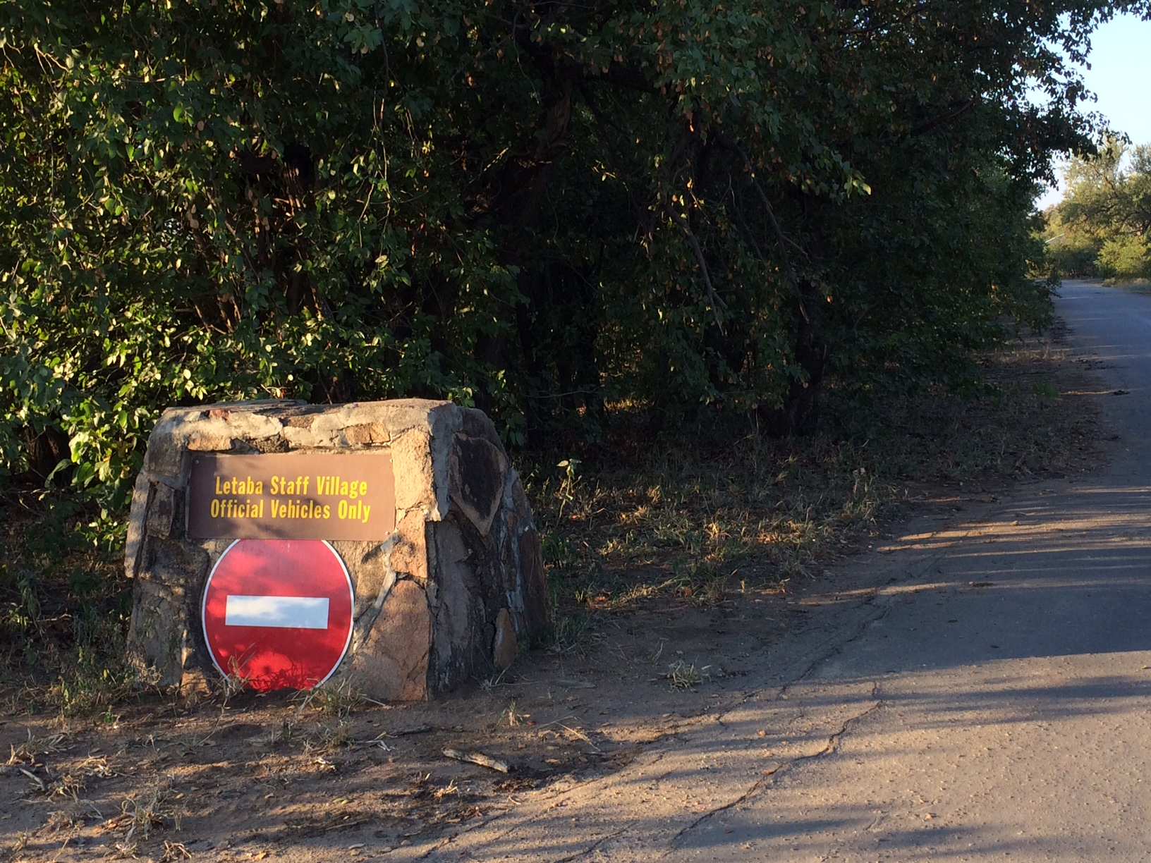 No entry into Letaba staff village KNP
